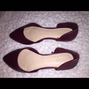 Forever 21 maroon flats size 5.5/6